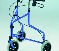 Lightweight Tri-Wheel Walker with Loop Brakes
